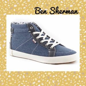Ben Sherman Shoes - (P) BEN SHERMAN▪️Men's Denim High Top Sneakers
